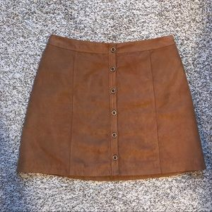 Hollister brown skirt suede feel size 5 small